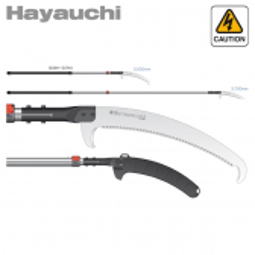 Pértiga de poda telescópica japonesa Silky Hayauchi 2.440-3.700 mm (390 mm - 6,5 dientes/30 mm) con funda protectora de poliprop