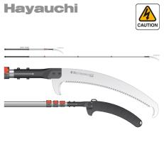 Pértiga de poda telescópica japonesa Silky Hayauchi 2.440-6.300 mm (390 mm - 6,5 dientes/30 mm) con funda protectora de poliprop