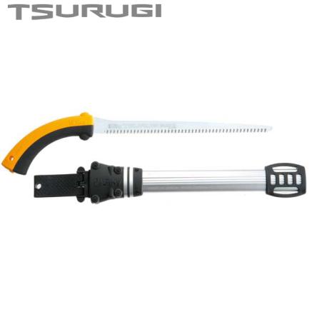 Serrucho japonés Silky Tsurugi de hoja recta (300 mm - 10 dientes/30 mm) con funda resistente de aluminio, clip para cinturón, a