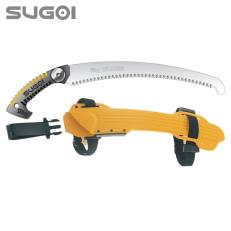 Serrucho japonés de poda Silky Sugoi de hoja curvada (360 mm - 6,5 dientes/30 mm) con funda resistente de polipropileno, clip pa