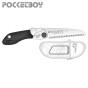 Serrucho japonés Silky PocketBoy plegable (130 mm - 10 dientes/30 mm) con empuñadura de goma.