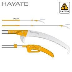 Pértiga de poda telescópica japonesa Silky Hayate 2.400-3.800 mm (420 mm - 6,5 dientes/30 mm) con funda protectora de polipropil