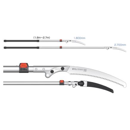 Pértigas de poda telescópicas-Zubat Professional 1200 330 2-Ext