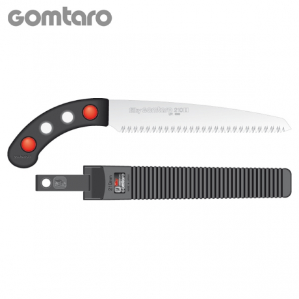 Serrucho japonés Silky Gomtaro de hoja recta (210 mm - 8 dientes/30 mm) con funda resistente de polipropileno, clip para cinturó